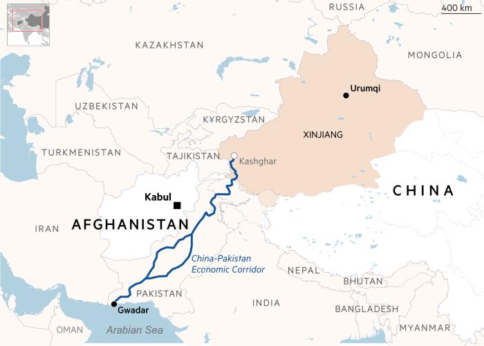 """Karte der Region / Bild: <a href=""""https://www.laizquierdadiario.com/Los-talibanes-tienen-un-nuevo-apoyo-la-burocracia-del-Partido-Comunista-de-China"""">laizquierdadiario.com</a>"""