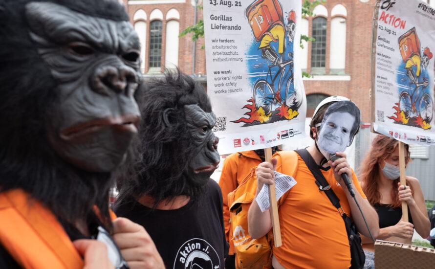 Gorillas Rider klagen auf Entfristung  und Weiterbeschäftigung
