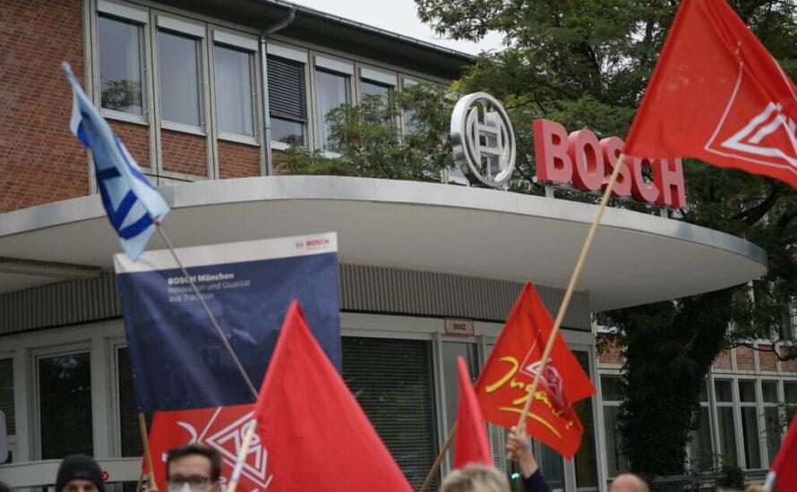 München: Für den Erhalt des Werks und Umstellung der Produktion bei Bosch, gegen die IAA!