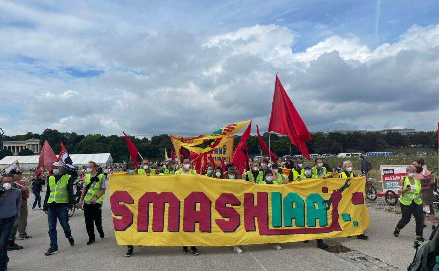 Großproteste gegen die Automesse IAA in München