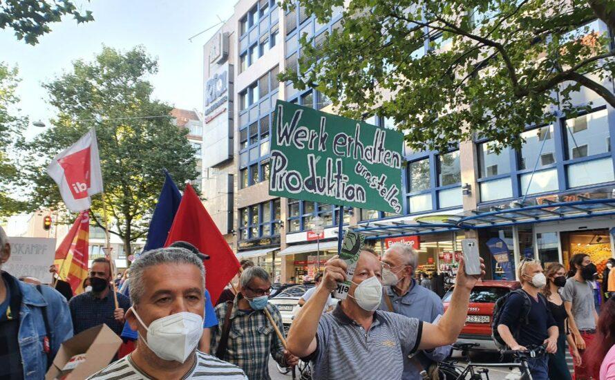 Bosch-Werk erhalten: Siegen mit einer bundesweiten Medienkampagne und gemeinsamen Kampf mit der GDL!