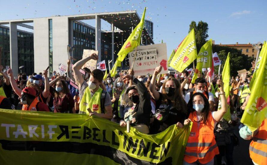 2500 Menschen bei Streikdemonstration der Berliner Krankenhäuser