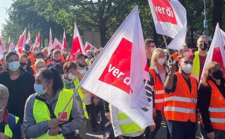 Solidarität mit dem Warnstreik am städtischen Krankenhaus in Kiel