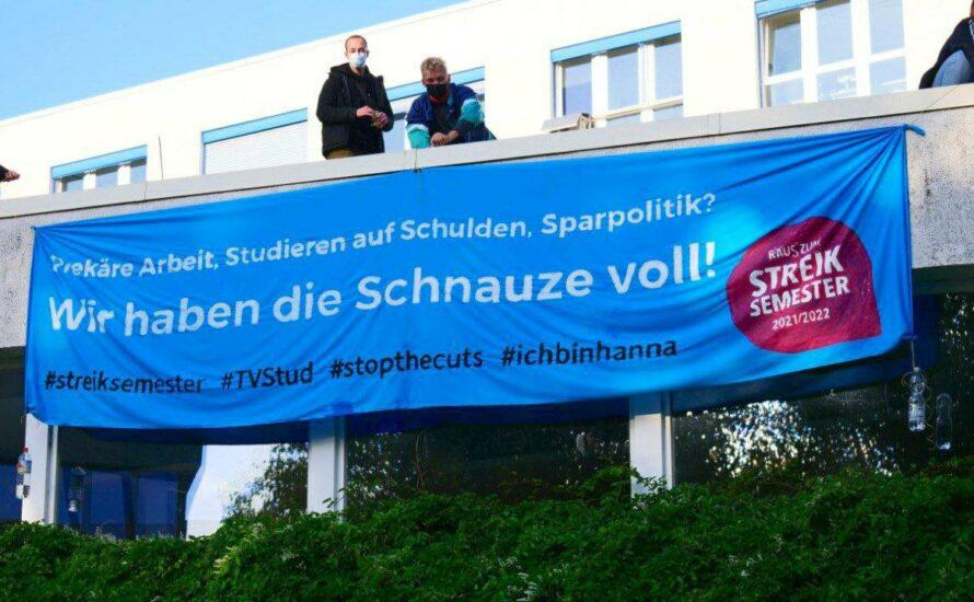 Solidarität mit der Hörsaalbesetzung in Hamburg. Gute Lern- und Lehrbedingungen jetzt!