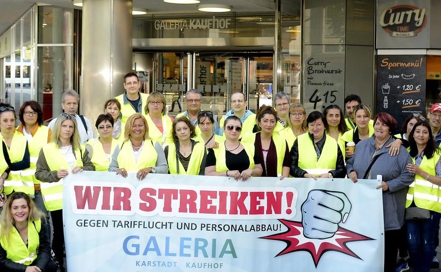 Karstadt/Kaufhof: Jobs retten, Altersarmut verhindern – bundesweite Streiks organisieren!