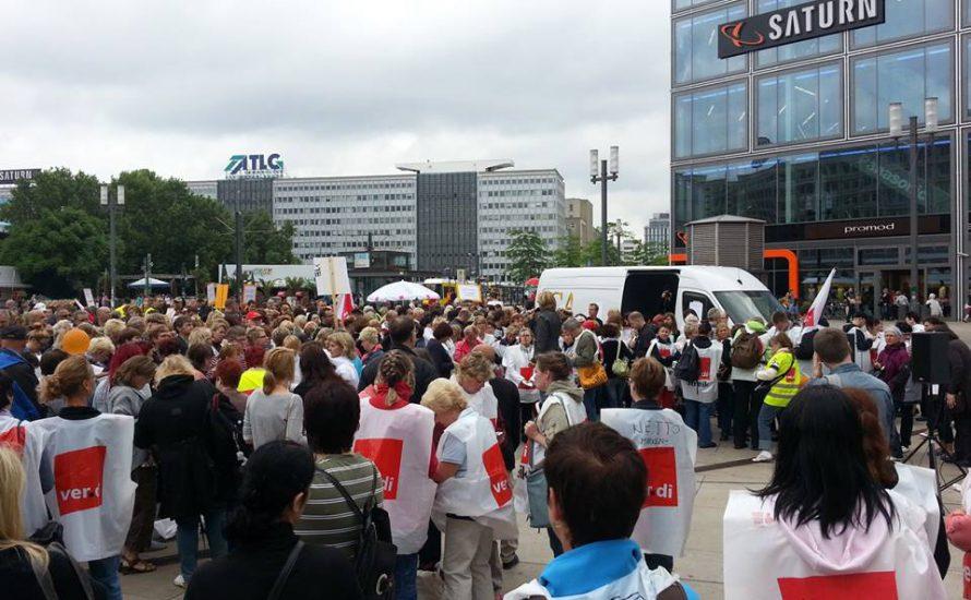Warnstreik im Berliner Einzelhandel