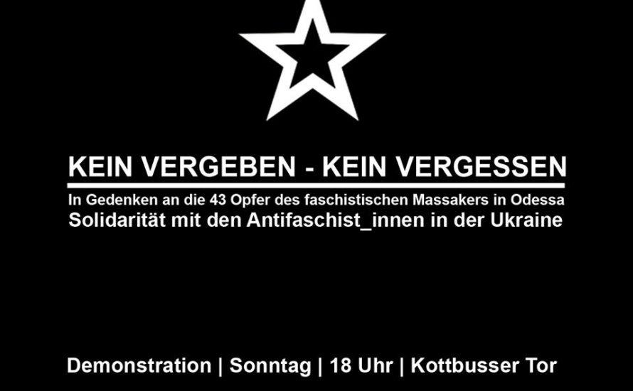 Berlin: Solidarität mit den AntifaschistInnen in der Ukraine!