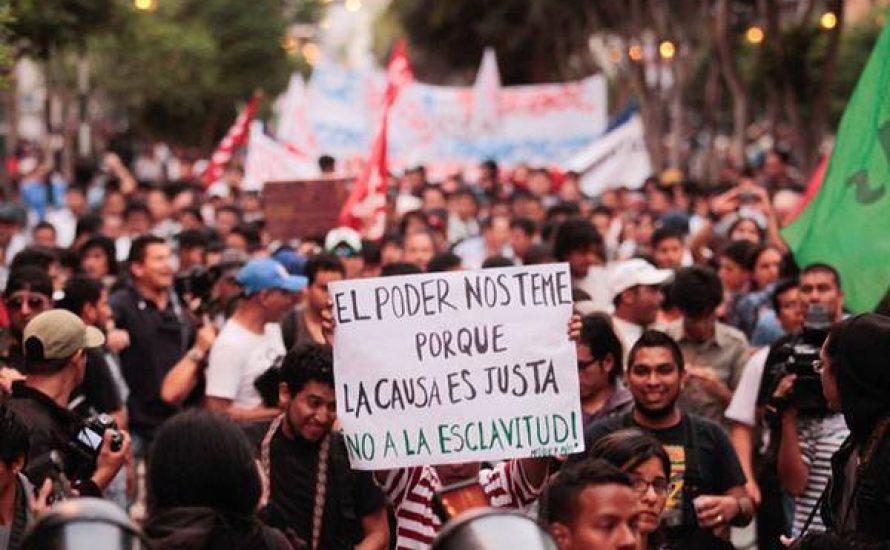 Peru: Nein zum Sklavengesetz für die Jugend!