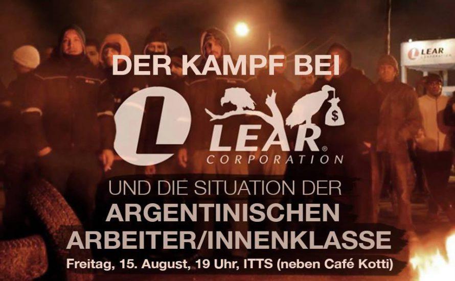 Veranstaltung in Berlin:  Der Kampf bei LEAR
