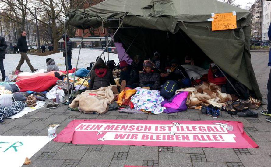 München: Refugee-Protest gewaltsam geräumt