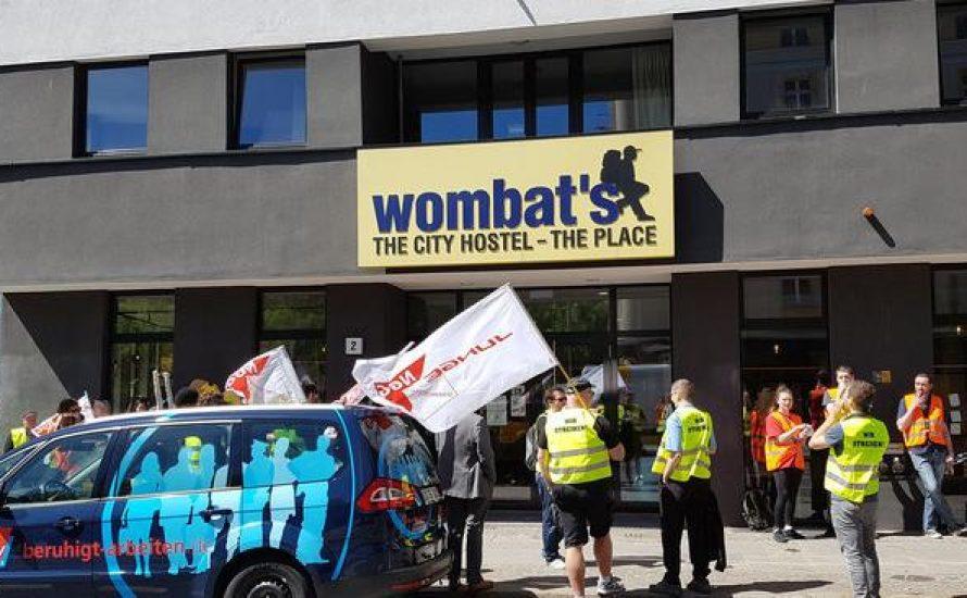 wombat's Berlin: Kundgebung gegen Outsourcing