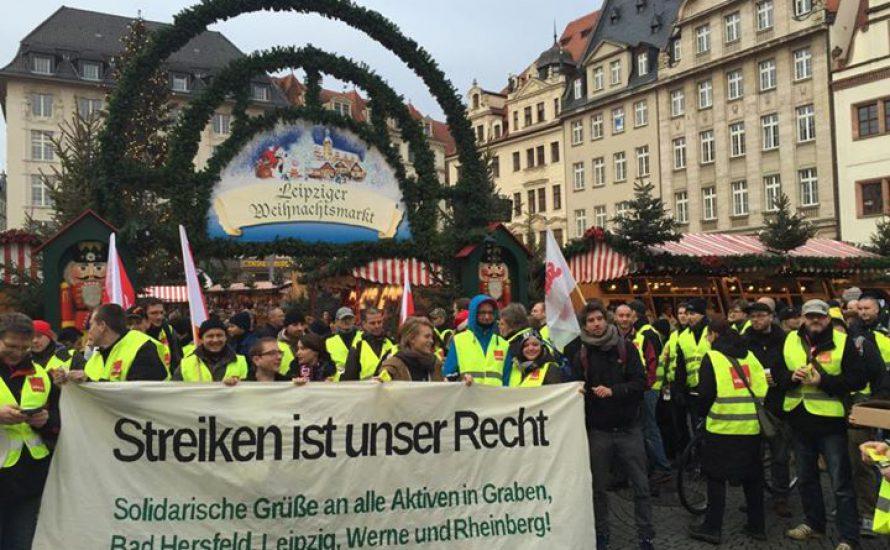 Amazon-Streik in Leipzig