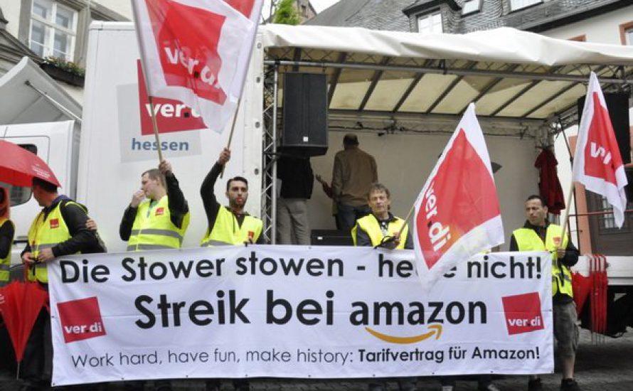 Berlin: Solidaritätskundgebung mit den Streiks bei Amazon