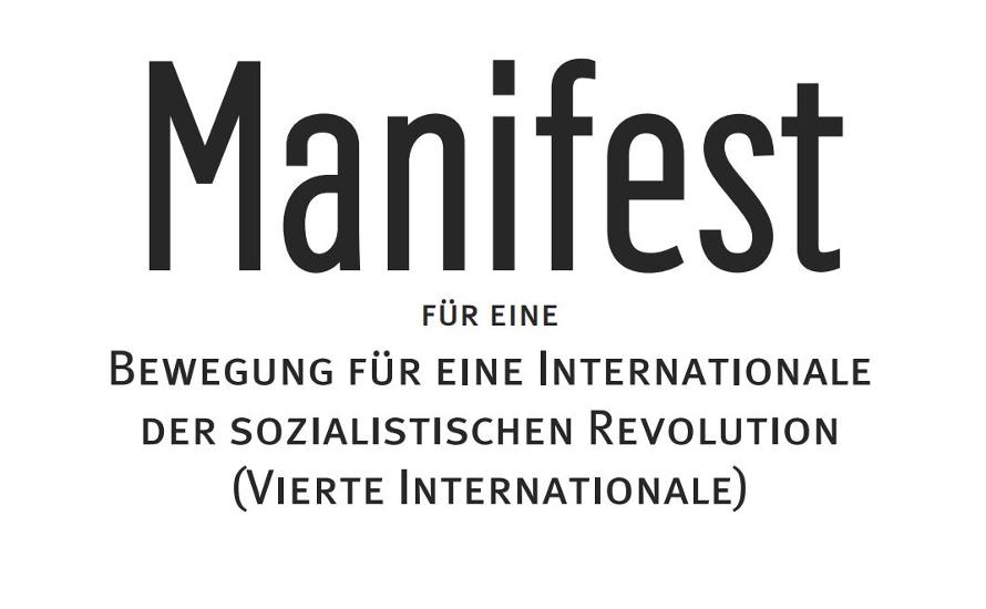 Manifest für eine Bewegung für eine Internationale der sozialistischen Revolution