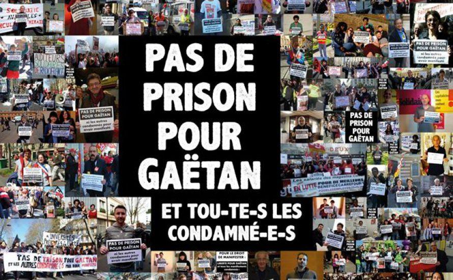 Demokratische Rechte verteidigen: Solidarität mit Gaëtan!