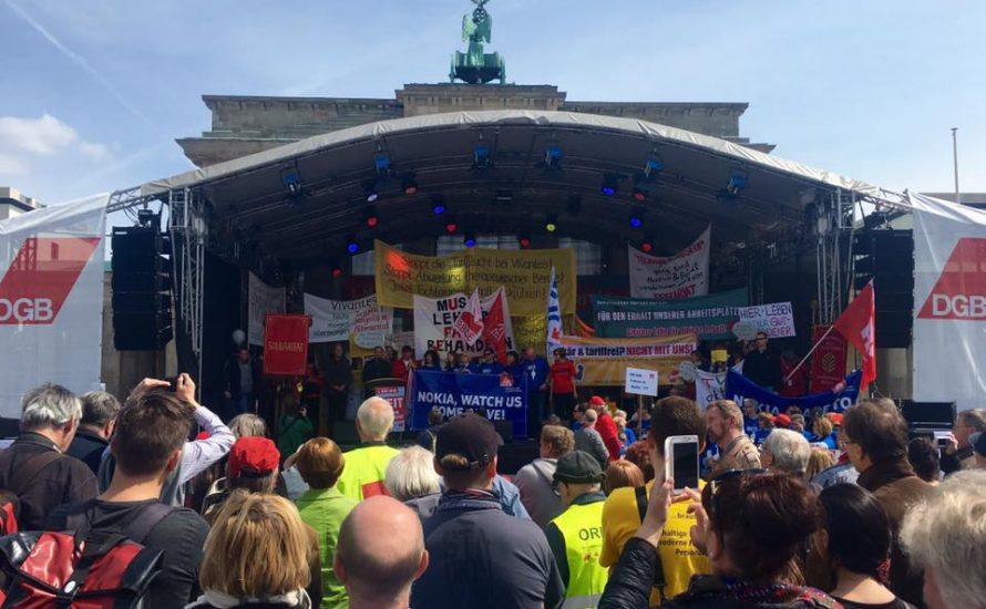 Gewerkschaftsdemo am 1. Mai in Berlin: Kämpferische Arbeiter*innen stören sozialdemokratische Folklore