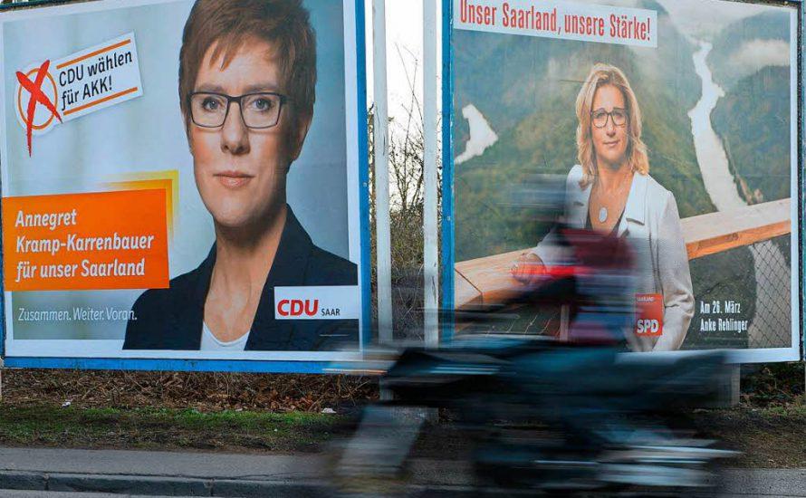 """Die """"Merkel von der Saar"""" bangt um ihren Sitz"""