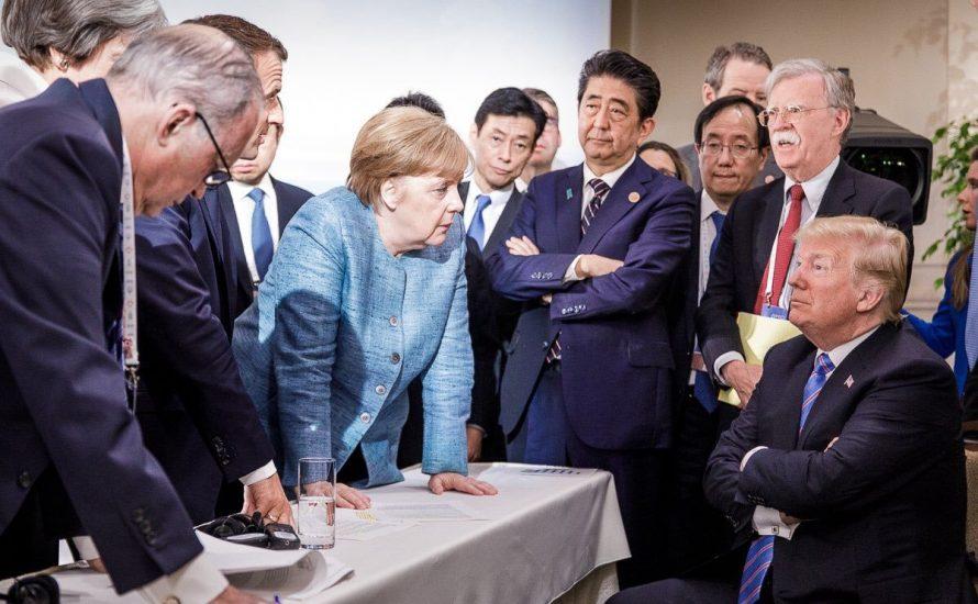 Trump knallt auf dem G7-Gipfel mit den Türen