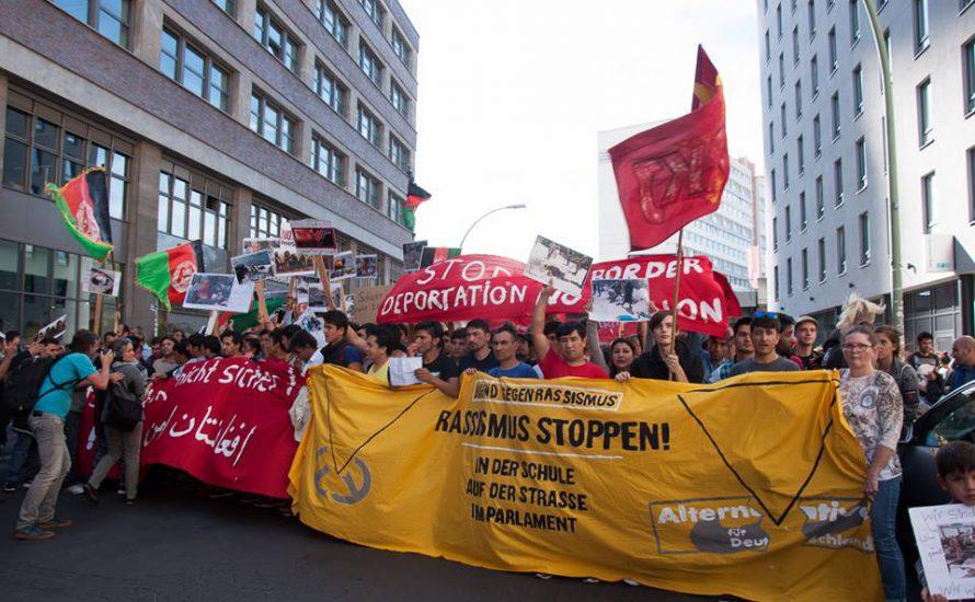 [Fotogalerie] Schüler*innen und Geflüchtete gemeinsam beim Schulstreik in Berlin
