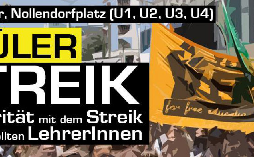 SchülerInnenstreik: Solidarität mit dem Streik der angestellten LehrerInnen