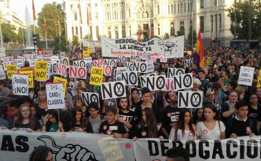 Spanischer Staat: Hunderttausende Schüler*innen und Studierende auf den Straßen