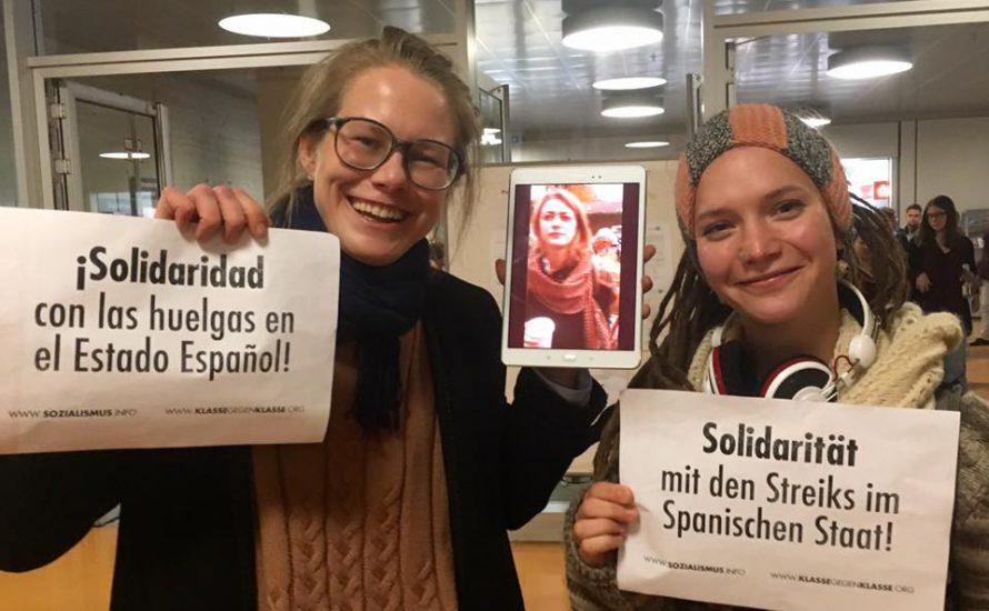 Freie Universität solidarisch mit dem Bildungsstreik im spanischen Staat