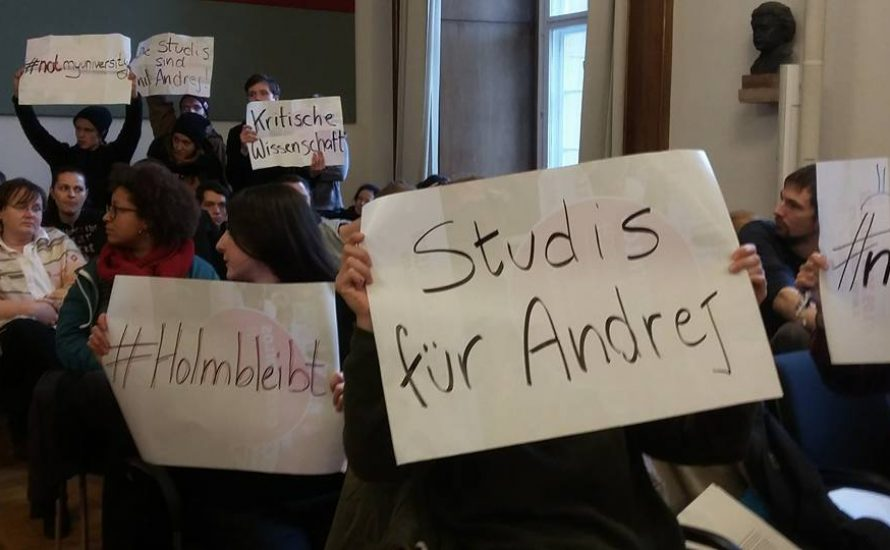 Damit #holmbleibt: Präsidium und Regierung konfrontieren!