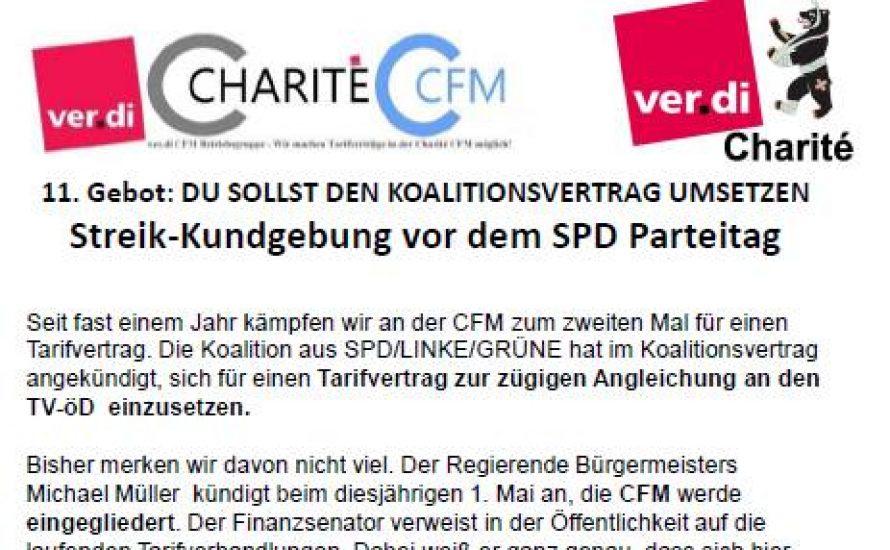 CFM-Streikende mobilisieren zu Protest gegen Berliner SPD