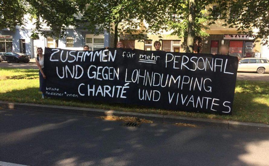 Gegen prekäre Beschäftigung: Kundgebung zur Aufsichtsratssitzung der Charité