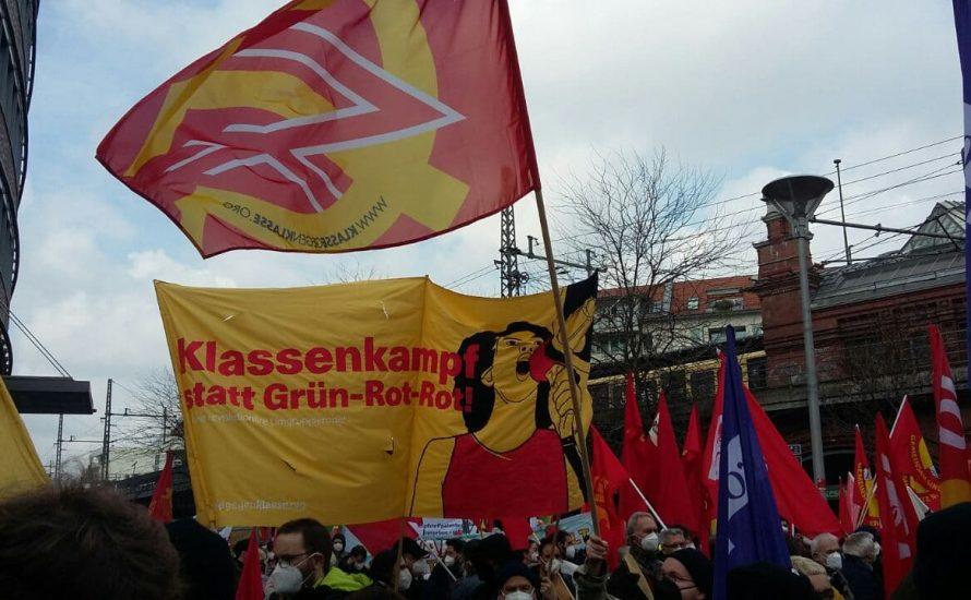 [FOTOS UND VIDEOS] 2.000 bei Gewerkschaftsdemo in Berlin: Klassenkampf statt Grün-Rot-Rot!