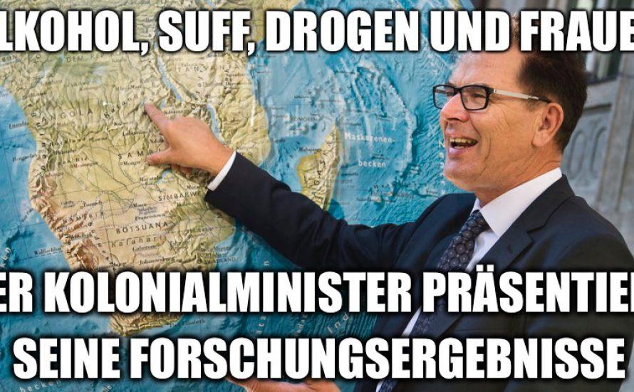 """Rassistische """"Volkskunde"""" von Kolonialminister Müller"""