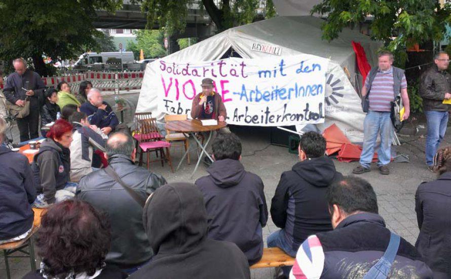 Solidarität für Vio.Me aus Berlin