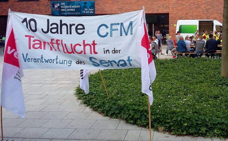 CFM-Beschäftigte sagen: Stimmt gegen die Angebote! Ein Betrieb, ein Tarifvertrag!