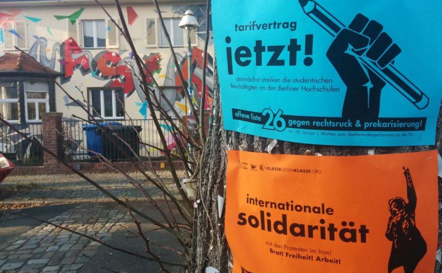 FU Berlin: Wählt Liste 26 gegen Rechtsruck und Prekarisierung!