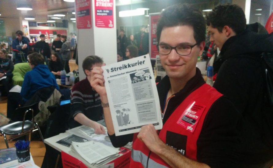 """Der """"Streikkurier"""": eine Stimme der Beschäftigten"""