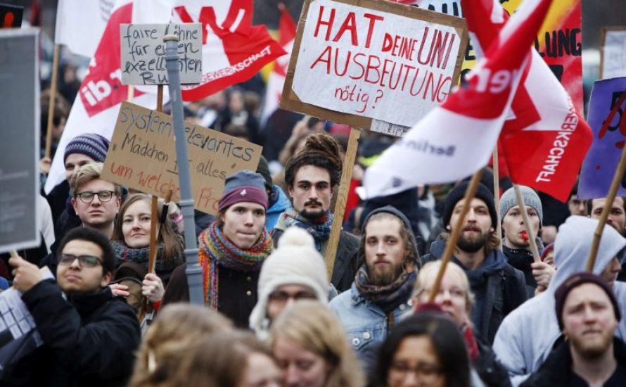 Bildungsstreik in Solidarität mit TVStud
