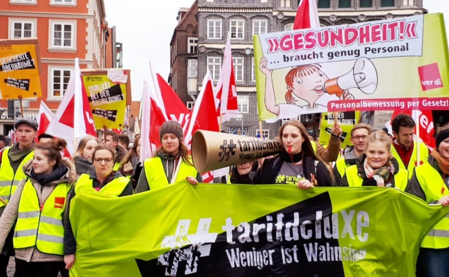 Erste Warnstreikwelle im TVöD: Streiken gegen Spahn