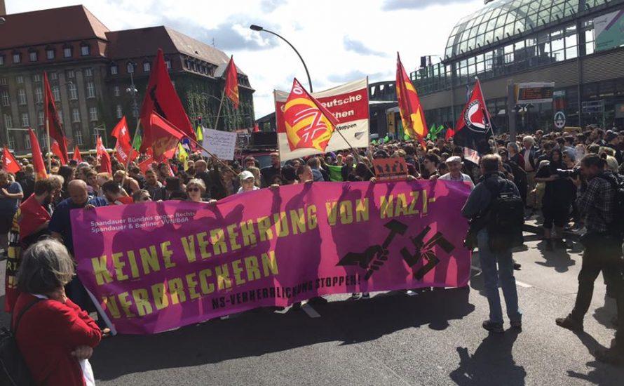 Nazi-Aufmarsch in Spandau erfolgreich blockiert! [mit Video und Bildern]