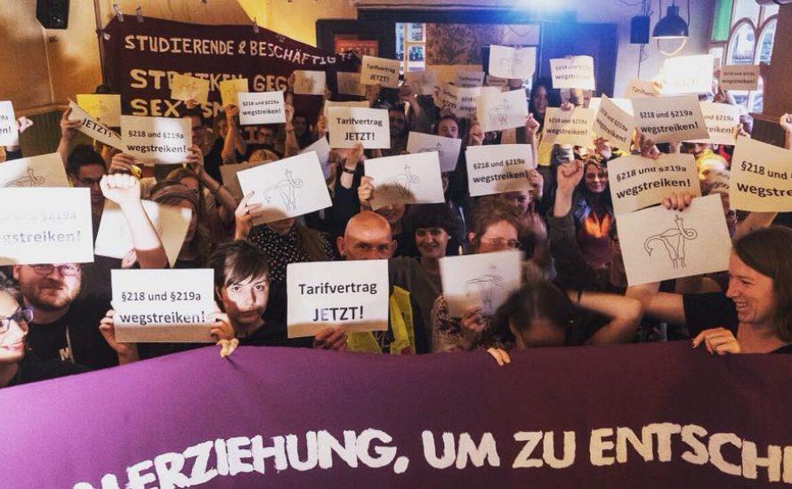 """Frauen* in Berlin starten die Kampagne """"§218 und 219a wegstreiken"""""""