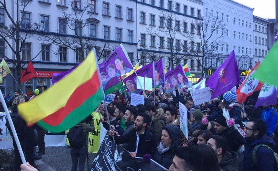 Berlin: 1500 Menschen sagen Nein zum Krieg in Afrin!