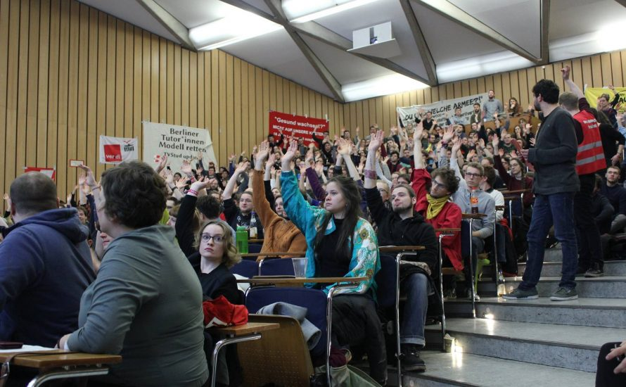TVStud: am Aktionstag gegen prekäre Arbeit in Berlin wird gestreikt!