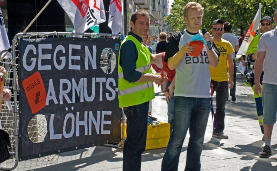 Kundgebung für den Berliner Flughafenstreik