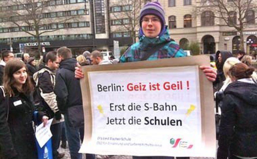 Protest an Berliner Oberstufenzentren