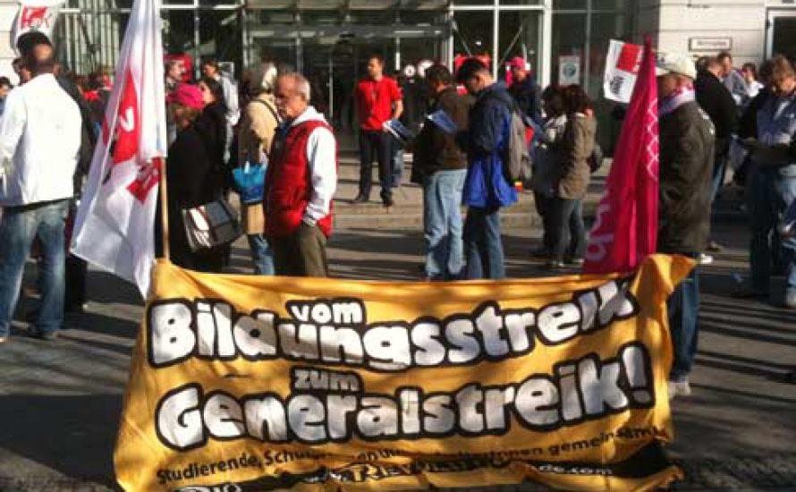 Solidelegation beim CFM-Streik