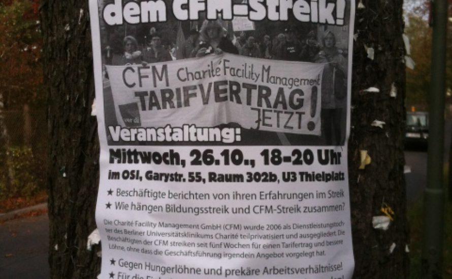Soliveranstaltung für den CFM-Streik
