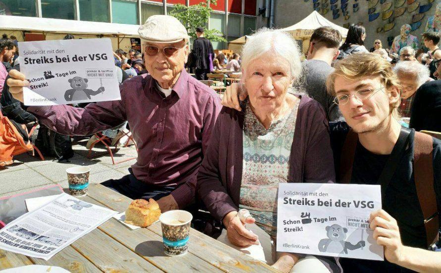 Frigga Haug und andere Intellektuelle unterstützen den VSG-Streik