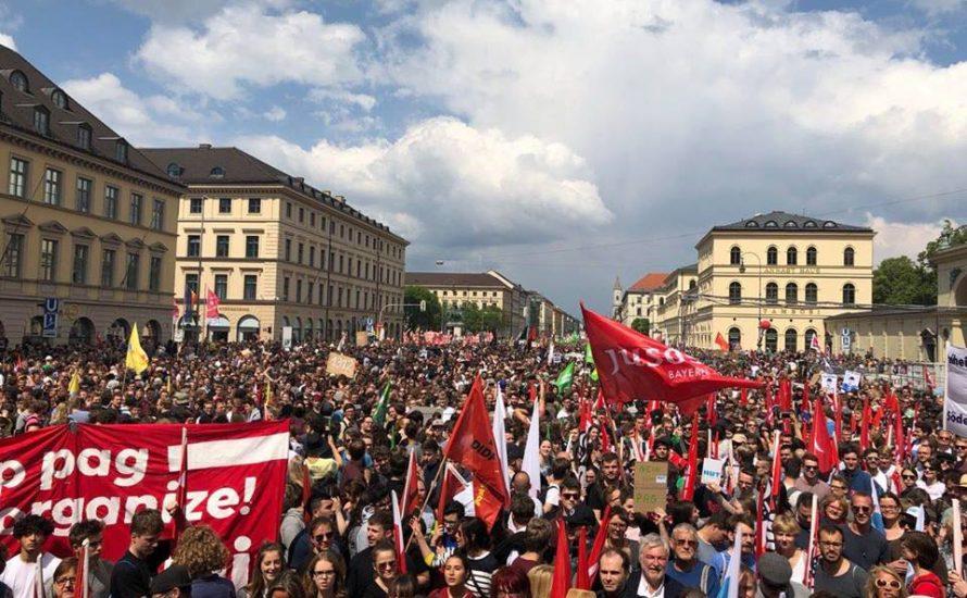 Kampfansage an die CSU: Über 40.000 demonstrieren in München gegen das PAG