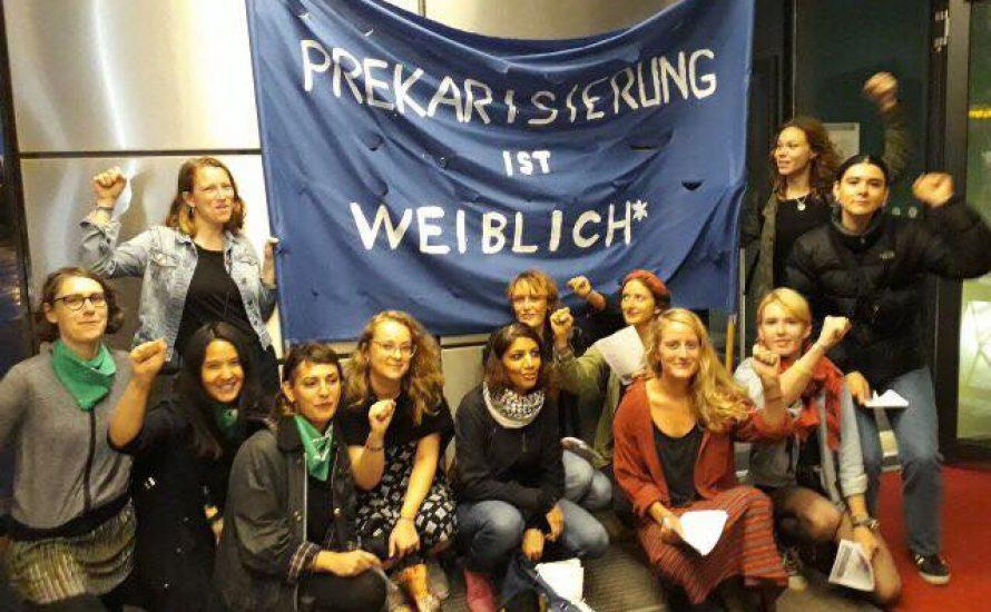 §219a: Feministinnen konfrontieren SPD-Delegierte