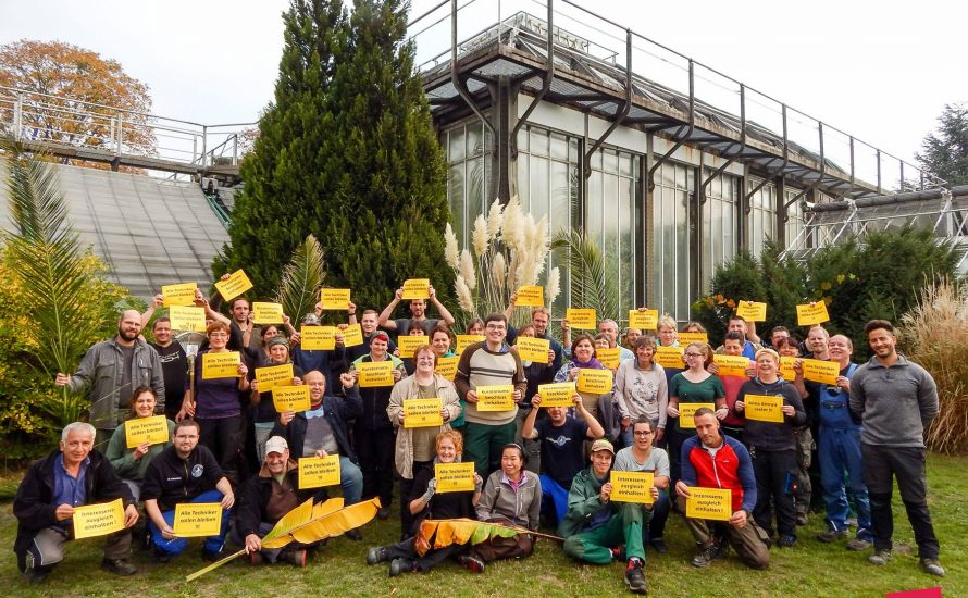 FU Berlin: Techniker*innen mobilisieren zum Kuratorium
