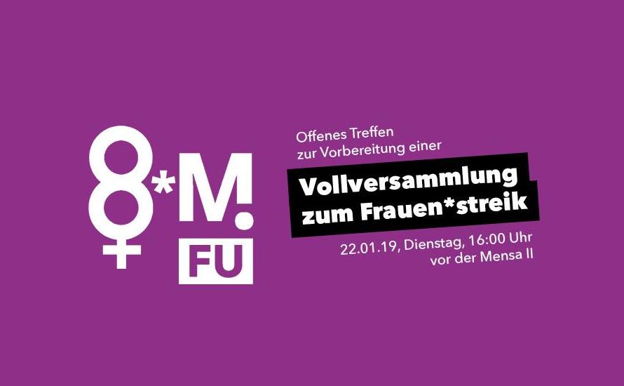 Offenes Treffen an der FU Berlin zum Frauen*streik